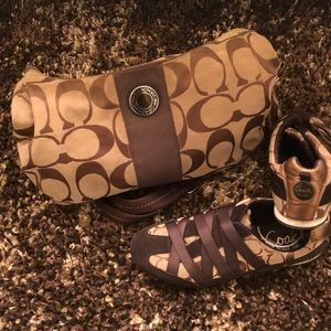 Coach Sneakers and Purse Bundle